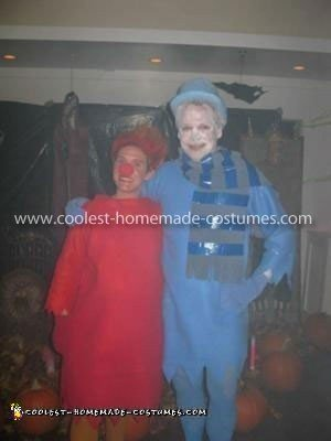 Homemade Heat Miser and Snow Miser Couple Costume