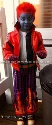 Homemade Holt Hyde from Monster High Costume