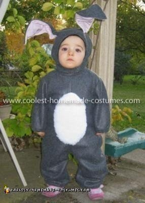 Coolest Home Made Bunny Costume