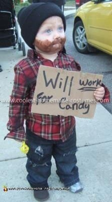 Homemade Homeless Child Costume