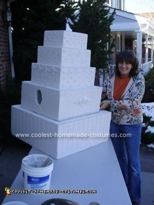 Homemade Wedding Cake Halloween Costume Idea