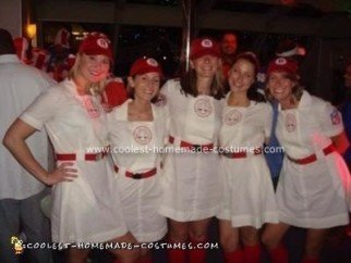 Homemade A League of Their Own Group Costume