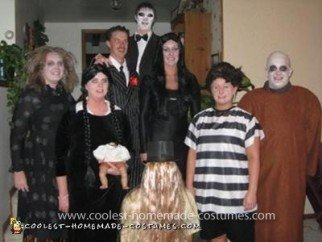 Homemade Addams Familly Costume