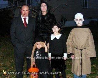 Homemade Addams Family Costume