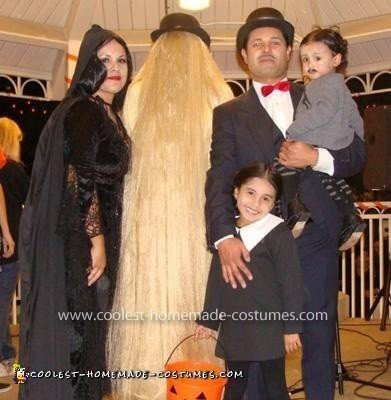 Homemade Addams Family Group Costume