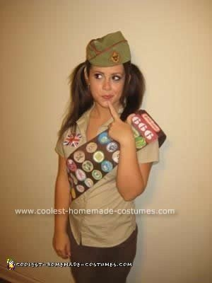homemade adult girl scout halloween costume