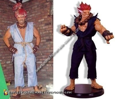 Homemade Akuma Street Fighter Costume