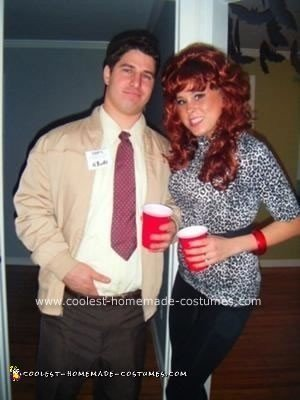 Homemade Al and Peg Bundy Couple Costume