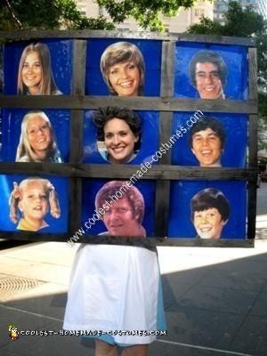 Homemade Alice and The Brady Bunch Costume Idea