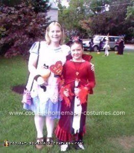 Homemade Alice and the Queen of Hearts Costumes