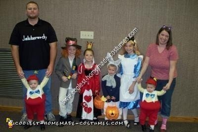 Homemade Alice in Wonderland Theme Group Costumes