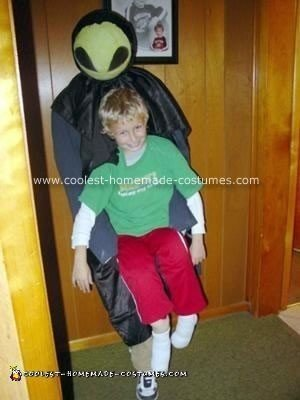 Homemade Alien Abduction Halloween Costume
