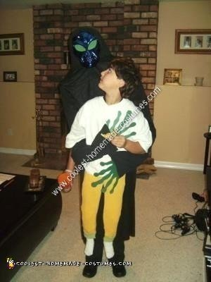 Homemade Alien Abduction Halloween Costume