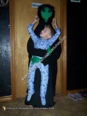 Homemade Alien Abduction Unique Halloween Costume Idea