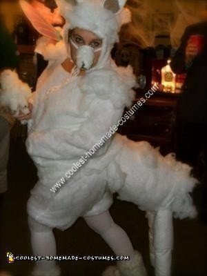 Homemade Alpaca Costume