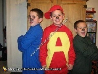 Homemade Alvin and the Chipmunks Group Costume Idea