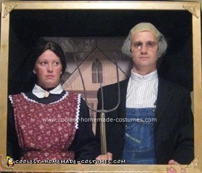 Homemade American Gothic Painting Costume
