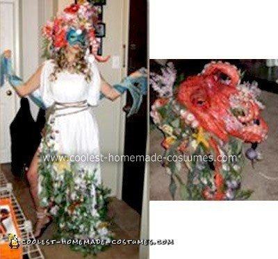 Homemade Amphitrite Greek Goddess Costume