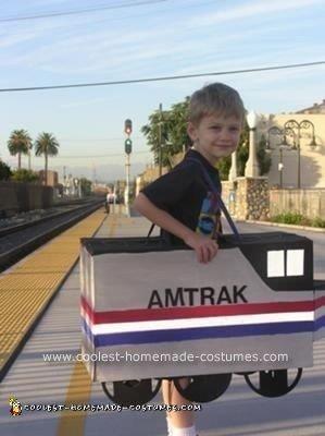 Homemade Amtrak Train Costume