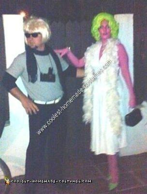 Homemade Andy Warhol and Marilyn Monroe Couples Halloween Costume Idea