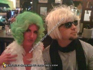 Homemade Andy Warhol and Marilyn Monroe Couples Halloween Costume Idea