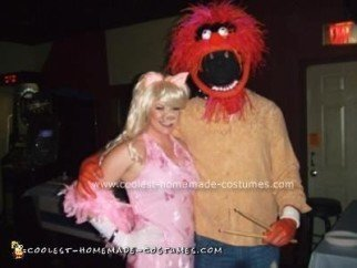 Homemade Animal and Miss Piggy from the Muppets Costume