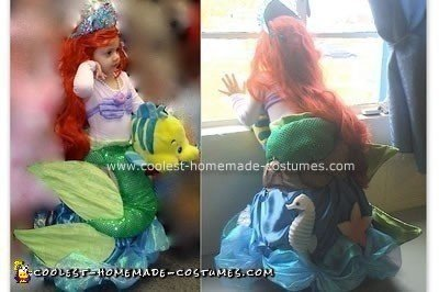 Homemade Ariel the Little Mermaid Costume