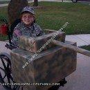 Homemade Army Tank Wheelchair Halloween Costume Idea