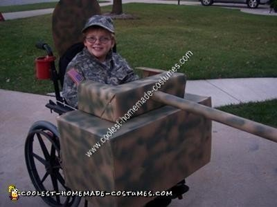 Homemade Army Tank Wheelchair Halloween Costume Idea