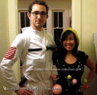 Homemade Astronaut and Solar System Couple Costume