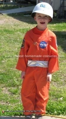 Homemade Astronaut Child Costume Idea