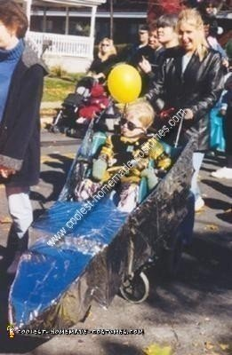 Homemade Astronaut in a Rocket (or Driver in a Racecar) Wheelchair Costume