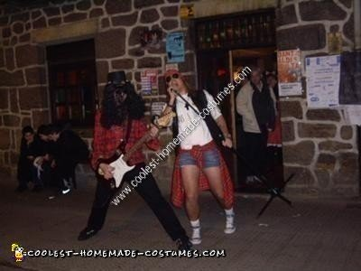 Homemade AXL Rose and Slash Couple Costume