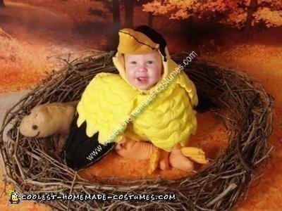 Homemade Baby Bird Costume