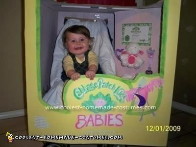Homemade Baby Cabbage Patch Costume