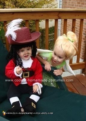 34b271160 Coolest Homemade Baby Captain Hook Halloween Costume