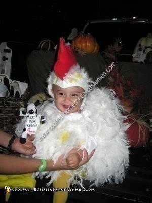 Homemade Baby Chicken Costume