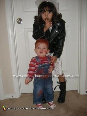 Homemade Baby Chucky and Bride of Chucky Costume