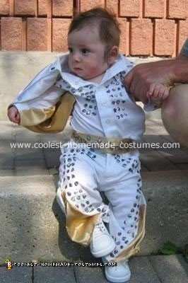 Homemade Baby Elvis Costume