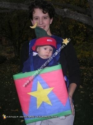Homemade Baby Jack in the Box Costume