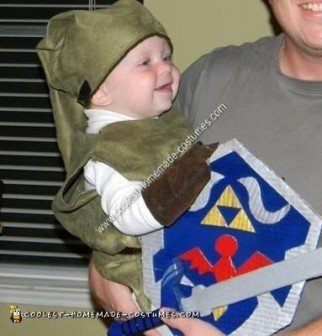 Homemade Baby Link Halloween Costume Idea