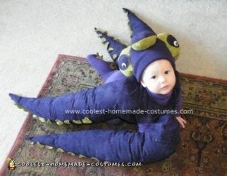 Homemade Baby Octopus Costume