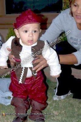 Homemade Baby Pirate Costume
