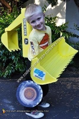 Homemade Backhoe Halloween Costume