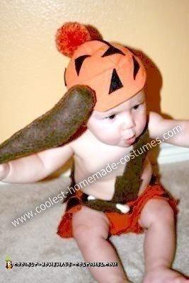 Homemade Bamm Bamm Baby Costume
