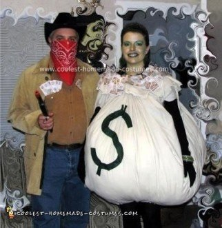 Homemade Bankrobber and Loot Couple Costume
