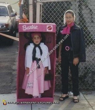 Homemade Barbie Doll in a Box Halloween Costume