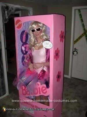 Coolest Homemade Barbie In A Box Costume