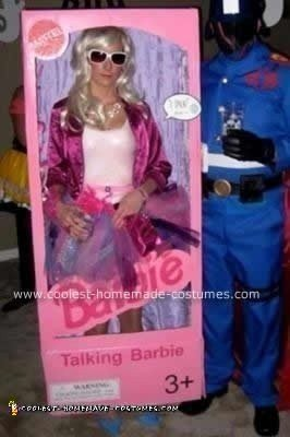 Homemade Barbie in a Box Costume