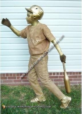 Homemade Baseball Trophy Costume